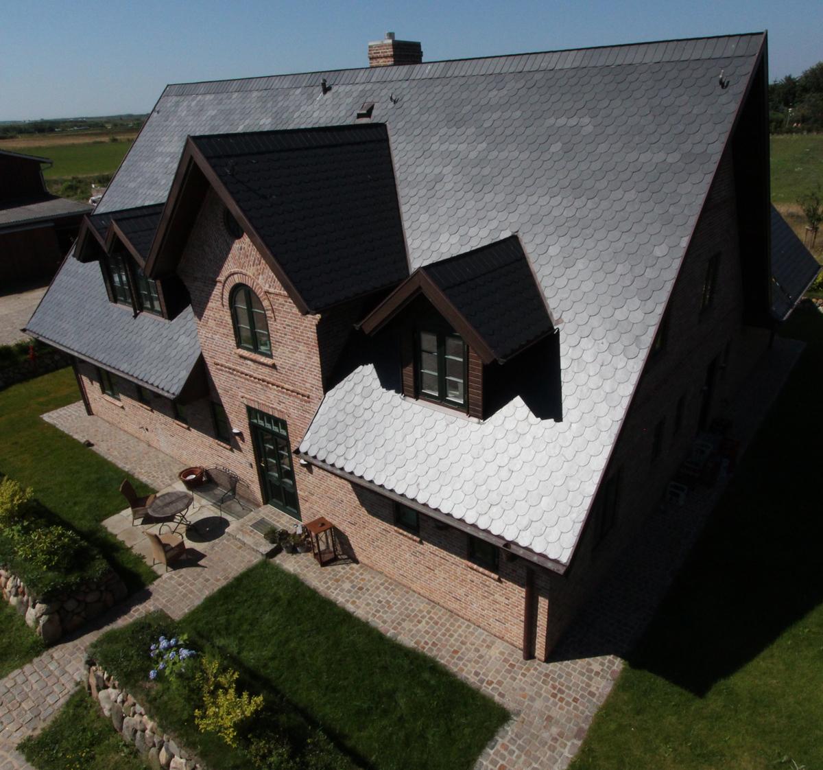 Dach Schiefer Fassade Klinker